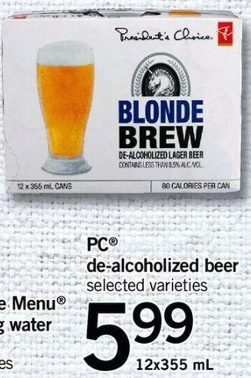 PC De-alcoholized Beer - 12x355 mL