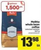 Melitta Whole Bean Coffee - 907 g