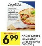 Compliments Individual or Large Meat Pies