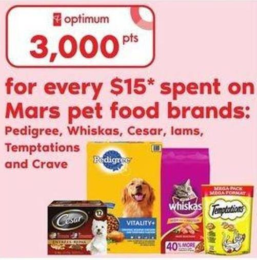 Pedigree - Whiskas - Cesar - Lams - Temptations And Crave