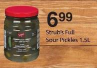 Strub's Full Sour Pickles - 1.5l