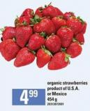 Organic Strawberries - 454 g