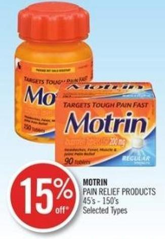 Motrin Pain Relief Products