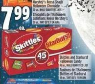 Skittles And Starburst Halloween Candy 45 Un. -