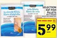 Selection Iqf Fish Fillets