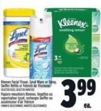 Kleenex Facial Tissue - Lysol Wipes Or Spray - Swiffer Refills Or Febreze Air Freshener