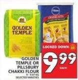 Temple Or Pillsbury Chakki Flour