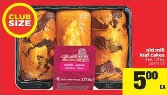 Old Mill Loaf Cakes - 3 Pk - 1.17 Kg