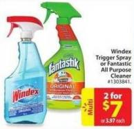 Windex Trigger Spray of Fantastic All Purpose Cleaner