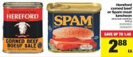 Hereford Corned Beef Or Spam Meat Luncheon - 340 g