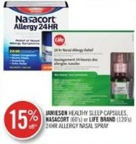 Jamieson Healthy Sleep Capsules - Nasacort (60's) or Life Brand (120's) 24hr Allergy Nasal Spray
