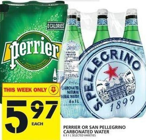 Perrier Or San Pellegrino Carbonated Water