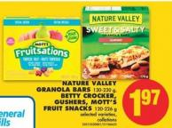 Nature Valley Granola Bars - 130-230 g - Betty Crocker - Gushers - Mott's Fruit Snacks - 120-226 g