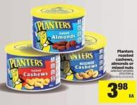 Planters Roasted Cashews - Almonds Or Mixed Nuts - 200/250 g