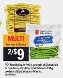 PC French Beans 400 G Or Honduras Or Yellow French Beans 350 G