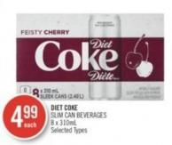 Diet Coke Slim Can Beverages