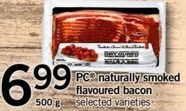 PC Naturally Smoked Flavoured Bacon - 500 G