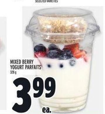 Mixed Berry Yogurt Parfaits