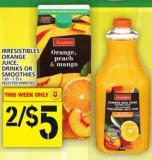 Irresistibles Orange Juice - Drinks Or Smoothies