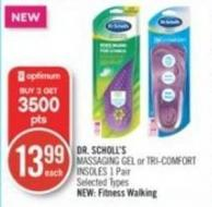 Dr. Scholl's Massaging Gel or Tri-comfort Insoles 1 Pair