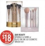 Quo Beauty Sparkle & Shine or Glitz On The Go Cosmetic Brush Set
