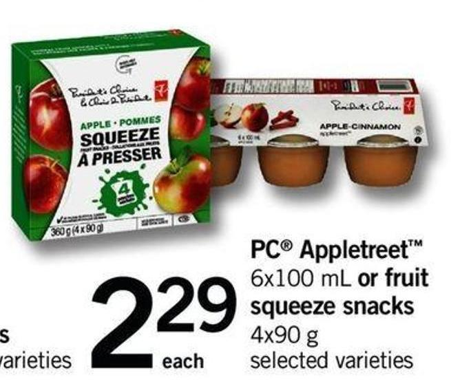 PC Appletreet - 6x100 Ml Or Fruit Squeeze Snacks - 4x90 G
