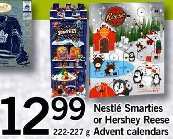 Nestlé Smarties Or Hershey Reese Advent Calendars - 222-227 G