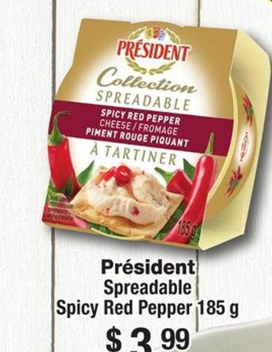 Président Spreadable Spicy Red Pepper 185 g