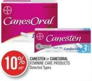 Canesten or Canesoral Feminine Care Products