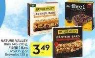 Nature Valley Bars 148-210 g - Fibre 1 Bars 125-175 g or Brownies 125 g - 50 Air Miles Bonus Miles