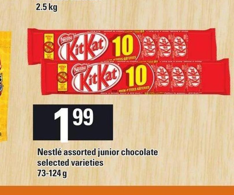 Nestlé Assorted Junior Chocolate - 73-124 g