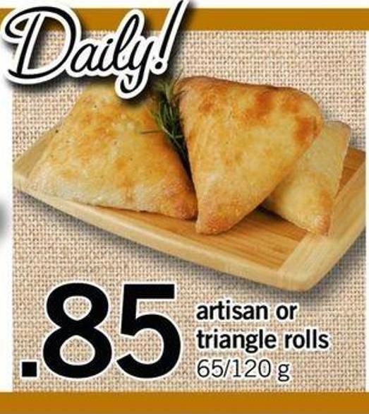 Artisan Or Triangle Rolls