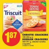Christie Crackers - 100-304 g or Keebler Crackers - 260-391 g