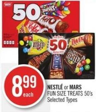 Nestlé or Mars  Fun Size Treats 50's