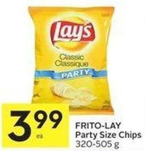 Frito-lay Party Size Chips 320-505 g