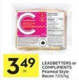 Leadbetters or Compliments Peameal Style Bacon