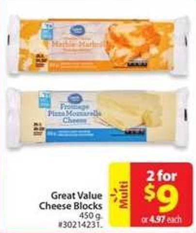 Great Value Cheese Blocks