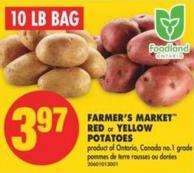 Farmer's Market Red or Yellow Potatoes