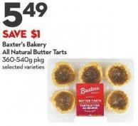 Baxter's Bakery All Natural Butter Tarts 360-540g Pkg