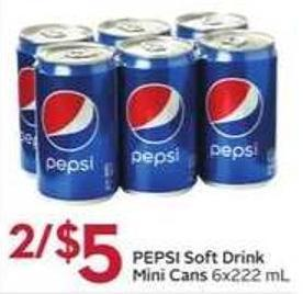 Pepsi Soft Drink Mini Cans