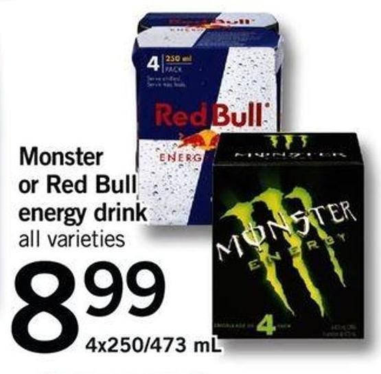 Monster Or Red Bull Energy Drink