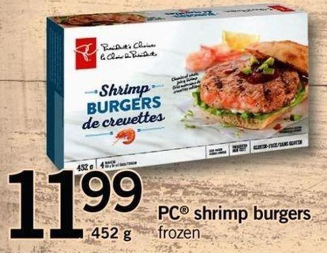 PC Shrimp Burgers - 452 g
