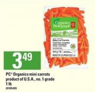 PC Organics Mini Carrots - 1 Lb