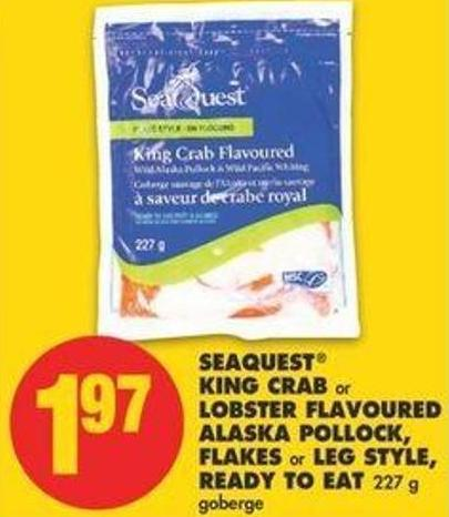 Seaquest King Crab Or Lobster Flavoured Alaska Pollock - Flakes Or Leg Style - Ready To Eat - 227 G