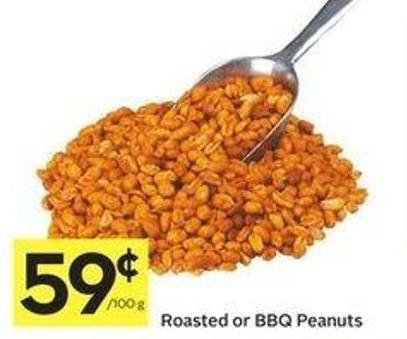 Roasted or Bbq Peanuts