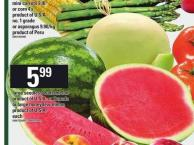 Large Seedless Watermelon Or Large Honeydew Melon