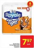 Royale Tiger Strong Paper Towel Full Sheets
