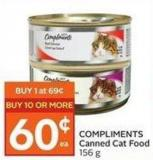 Compliments Canned Cat Food 156 g