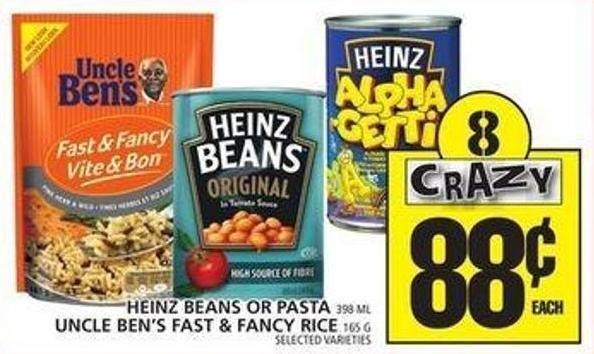 Heinz Beans Or Pasta Or Uncle Ben's Fast & Fancy Rice