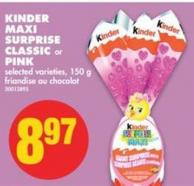 Kinder Maxi Surprise Classic or Pink - 150 g